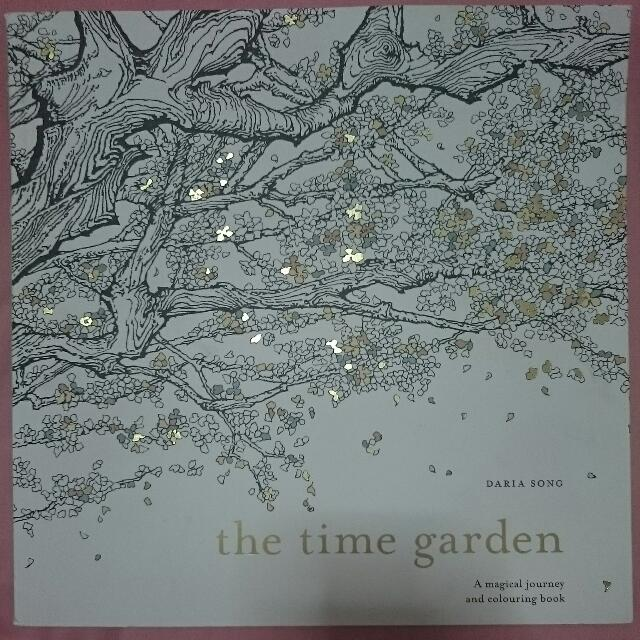 Bruised Time Garden Colouring Book Books Stationery On Carousell