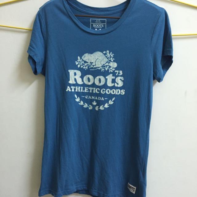 (含運)《二手》Roots短袖上衣S