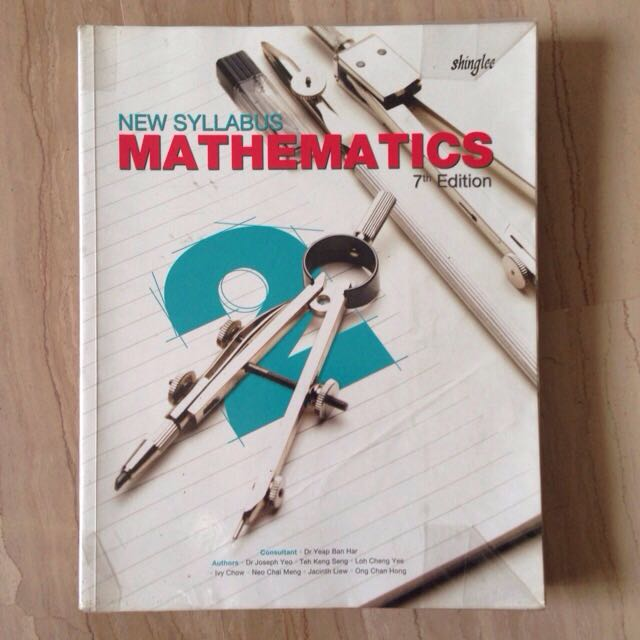 Sec 2 Shinglee Math Textbook 7th Edition