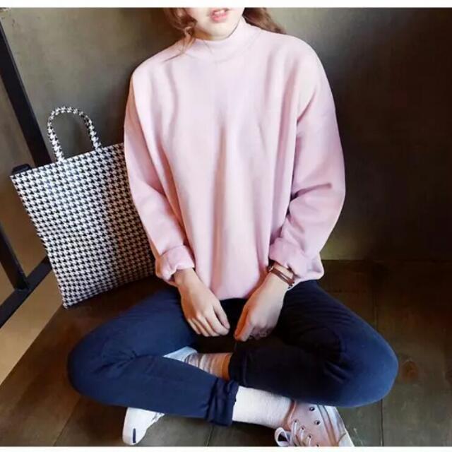 韓國加絨套頭加絨寬鬆T恤(共9色)