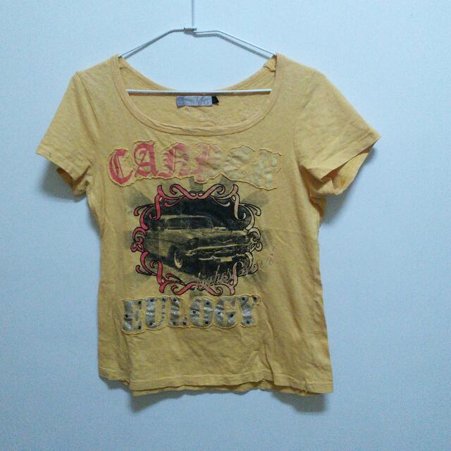(二手)黃色T恤