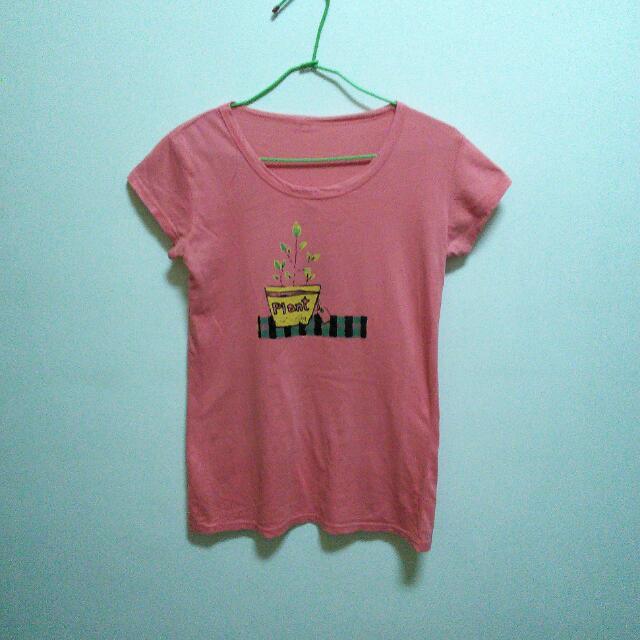 (二手)珊瑚紅T恤