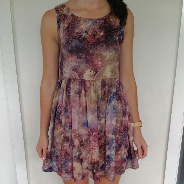 xs Mink Pink pegasus dress