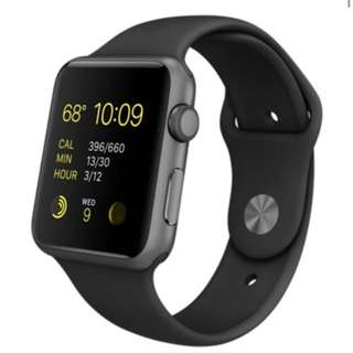 [BNIB] Apple Watch Sport 42mm Space Gray with Accessories
