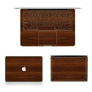 深色木紋 Macbook 13吋 保護貼