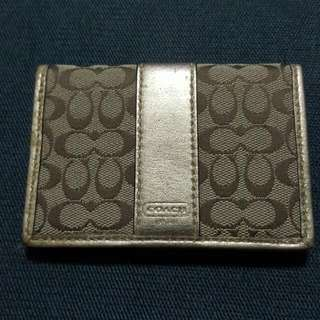 Authentic Coach ID Card Holder Wallet