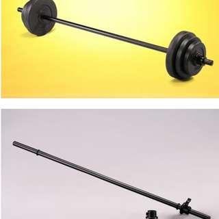 重訓💪🏻空心長槓 健身房御用 附卡鎖 二手