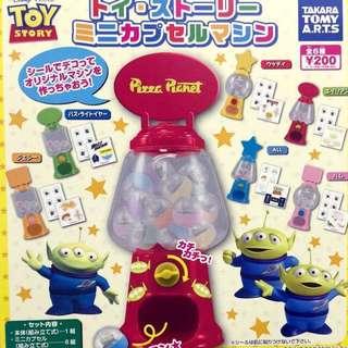 玩具總動員 轉蛋機 扭蛋機 全套 三眼怪 胡迪 巴斯 紅心 迪士尼