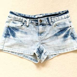 Valleygirl Bleach Wash Shorts