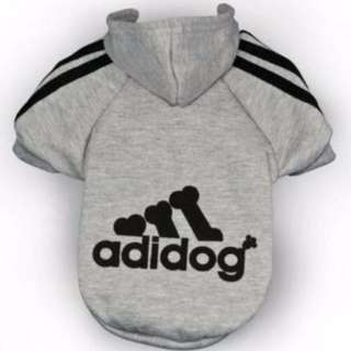 Large Grey Adidog Hoodie