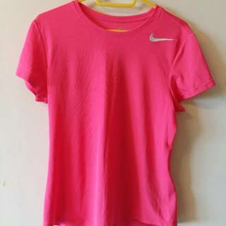 正版Nike粉色短T(二手)