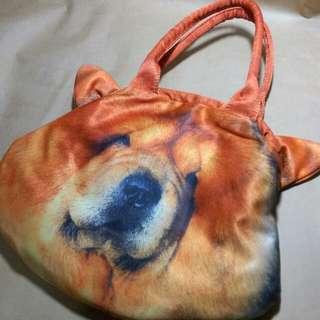 橘色 狗狗包 皺皮狗