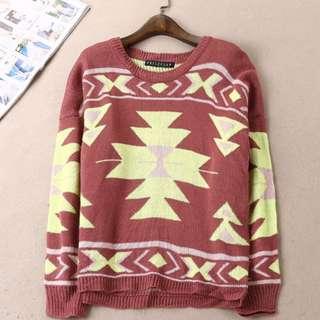 幾何針織毛衣