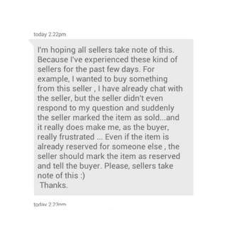 I'm Hoping All Seller Take Note Of This :)