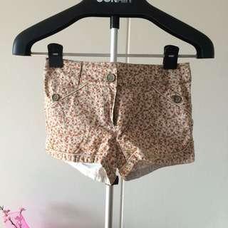 Floral Beige Shorts