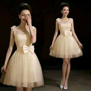 Dress Snow White Matt Brukat +saten Ada Sleting Fit. L Pj.85