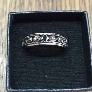 Vintage Retro Ring Bohemia Antique Silver Plated