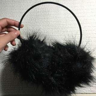 Gu黑色毛耳罩