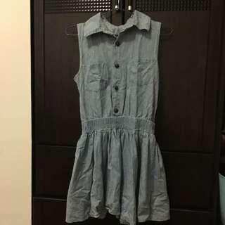 二手 日系牛仔丹寧風連身短裙