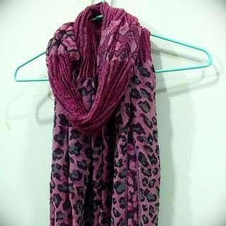 專櫃圍巾 豹紋款 韓國製