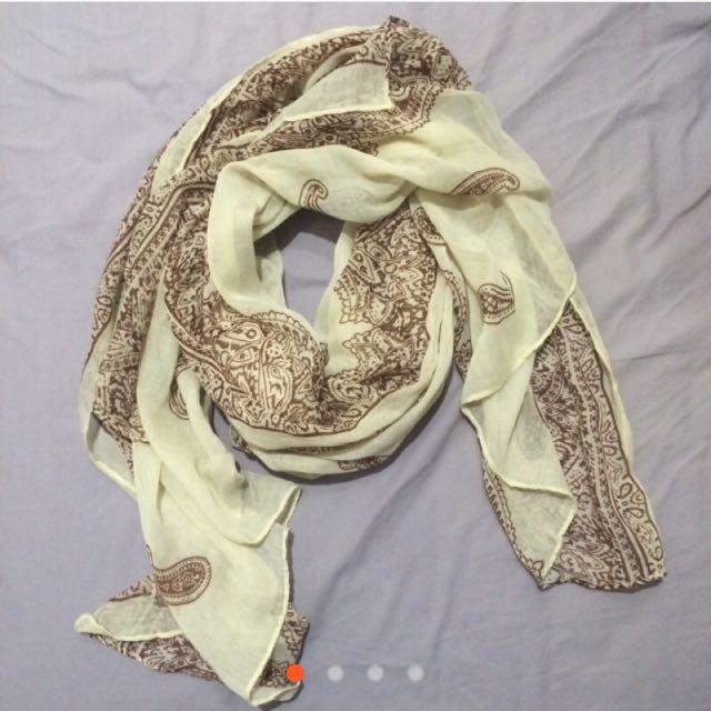 全新含運‼️變形蟲圖騰絲巾 圍巾