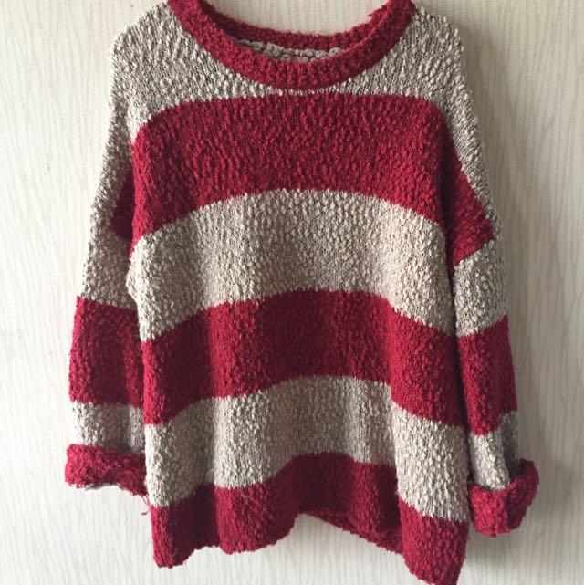 (二手) 條紋毛衣