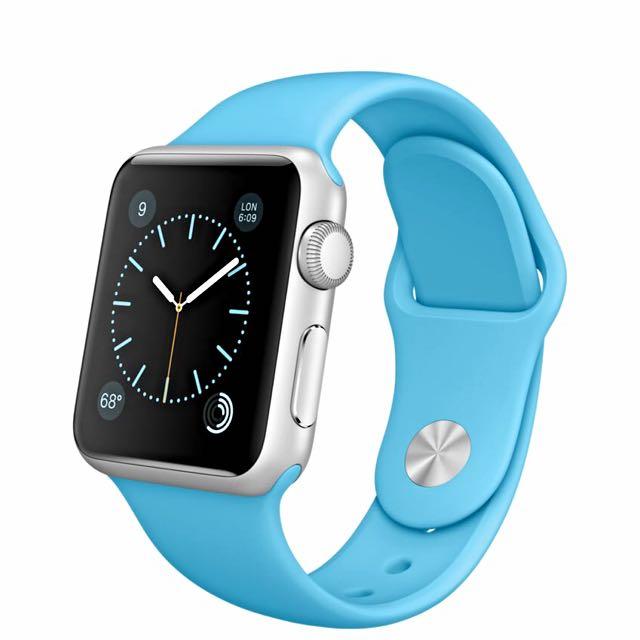 Apple Watch Sport 天空藍色 38mm case 💙
