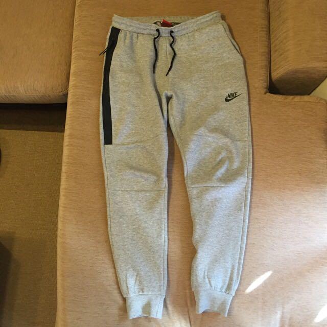 Nike Tech Fleece 縮口 棉褲 灰M