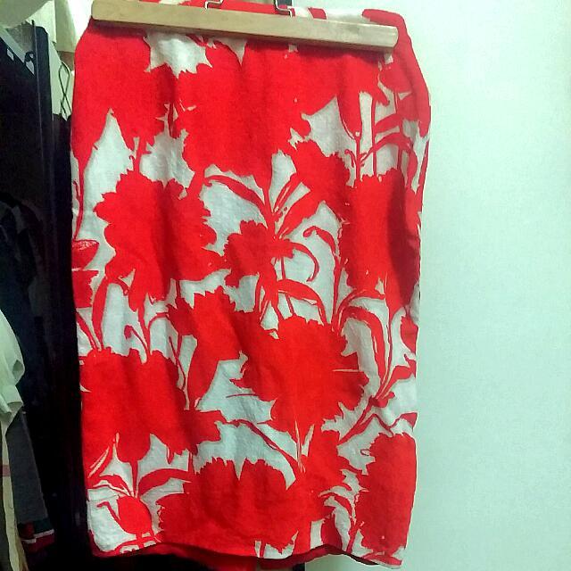 PRADA 夏季款橘紅花裙
