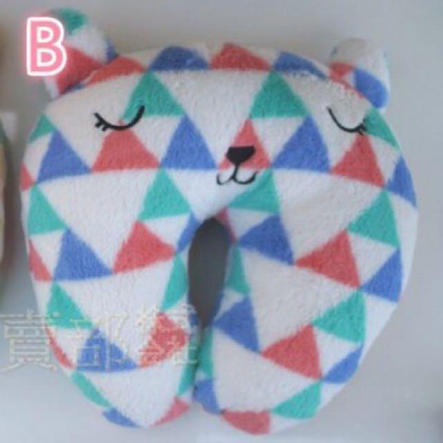 梨花熊u形枕,車枕,飛機枕