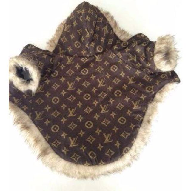 XS LV Monogram Winter Pet Coat