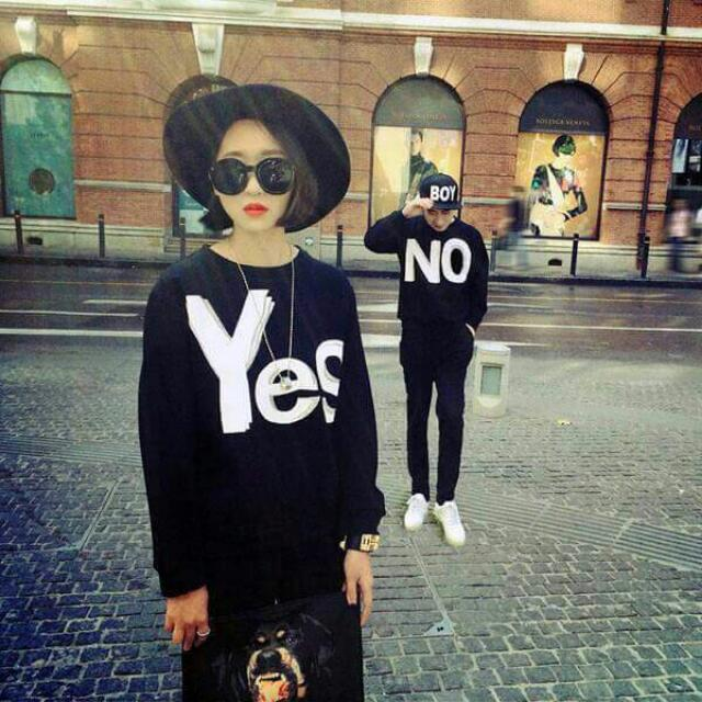 (代售)Yes/No 情侶/閨蜜衣