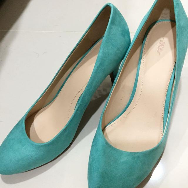 ZARA麂皮跟鞋-39