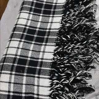 🎄全館9折🎀格紋雙面圍巾