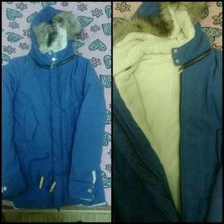 藍色暖暖毛大衣