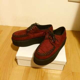 (含運)絨面厚底松糕鞋