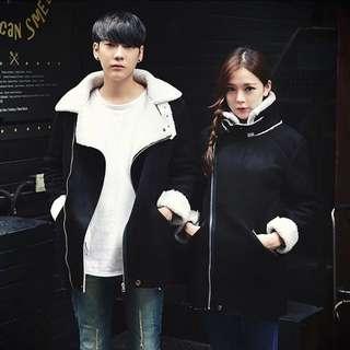K&L韓版中長款情侶冬裝外套