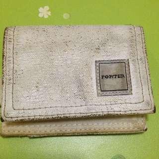 (二手) Poter白色零錢包