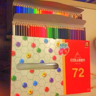 Colleen Colored Pencil With Neon 72 Pcs
