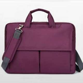 電腦包(15寸)男女款式筆電包單肩斜跨手提包 五色自選