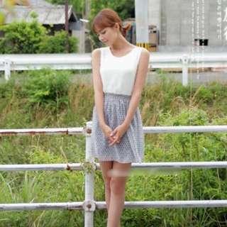 正韓cherrykoko雪紡縮腰洋裝