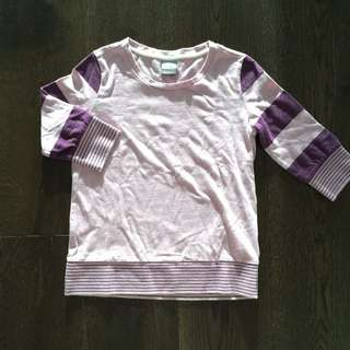 Nike Purple 3/4-Sleeved Shirt