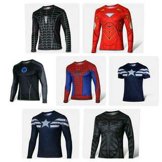 Superheroes Ready Stock Compression Dry-fit Marvel DC Superheroes