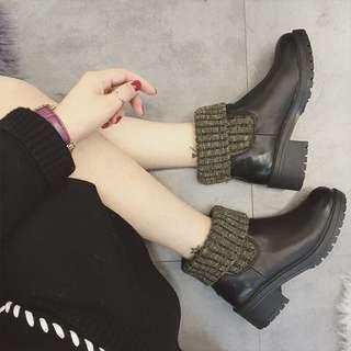 襪套套筒短靴2色