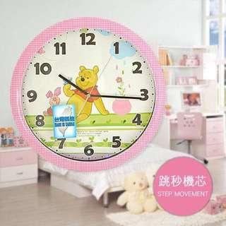 可愛的維尼時鐘