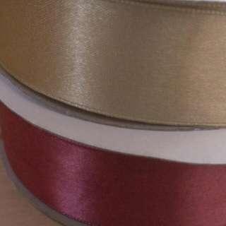 🎇特價🎉 單面緞帶 金 酒紅