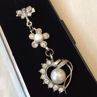 *SALE* Pearl Heart-Shaped Butterfly Brooch from Sabah