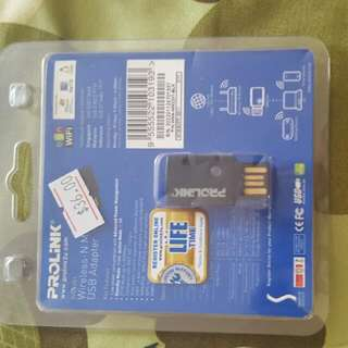 Wireless N Mini USB Adapter.  Prolink Brand New .