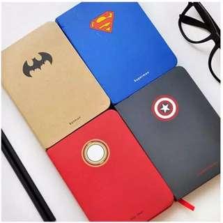 [全新-四款最後現貨]復仇者聯盟日記本 筆記本|美國隊長 超人 鋼鐵人 蝙蝠俠 Marvel 精裝 硬殼 日記 筆記 空白筆記