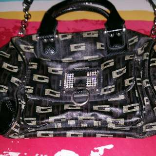 Authentic Guess Handbag With Long Handle Strap